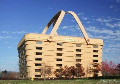 The Longaberger Basket building in Ohio